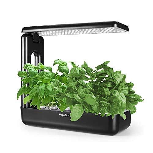 Vegebox Hydroponics Growing System - Grow Smart for Plant, Built Your Indoor Garden(Large-Black)