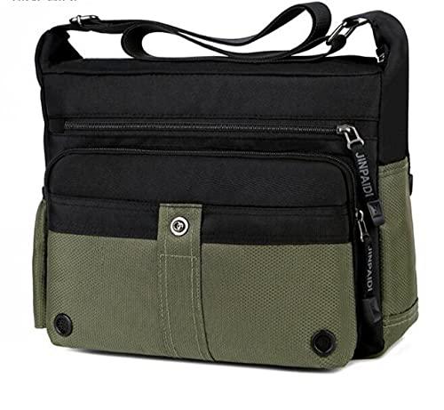 Bolso de hombro casual para hombre, bolso de mensajero de tela Oxford de gran capacidad al aire libre, maletín de negocios para hombres