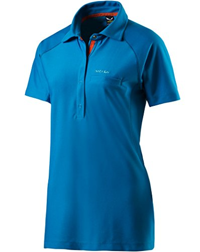 Salewa Polo Alpine Dry Polo, Alpina Dry W S/S, Bleu (Opale)