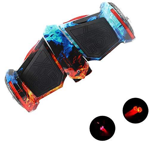 YLCJ 8-Zoll-Hoverboard Mit Steam Jet-RüCklicht, Selbstausgleichendem Elektroroller FüR Kinder Und Erwachsene, Bluetooth, 20 Km Akkulaufzeit, 20-150 Kg Last, Eisflamme