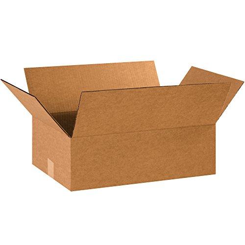 BOX USA B18126 Flat Corrugated Boxes, 18