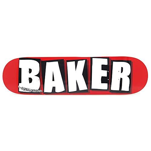 BAKER DECK ベイカー デッキ TEAM BRAND LOGO RED/WHITE 8.125 スケートボード スケボー SKATEBOARD