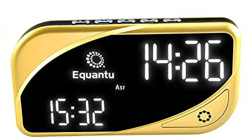 OBEST Musulmane Azan - Reloj despertador de oración con pantalla digital, inducción de oración y despertador de contador, puede jugar el corán, fácil de transportar