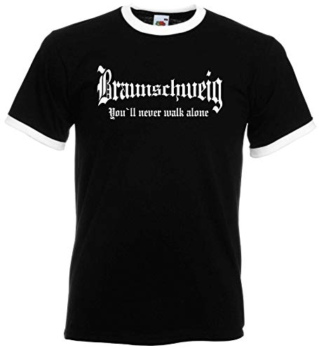 world-of-shirt / Braunschweig Herren Retro You`ll Never Walk Alone
