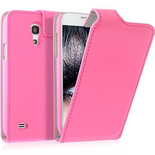 Blumax Galaxy S4 Mini i9190 i9195 Flipstar/Lederhülle/Ledertasche/Hülle/Hülle/Cover/Etui/Tasche PINK Samsung aus echtem doppelt genähtem Leder aufklappbar mit Magnet