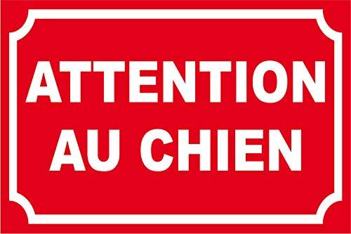 adhesif concept Panneau Attention au Chien (avec Cadre)
