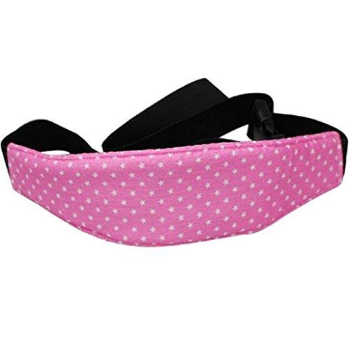 Cinturón de Seguridad de Coche para Niños Sujetadores de Cabeza para Bebés Soporte de Cabeza del Cochecito saisiyiky (Rosa)