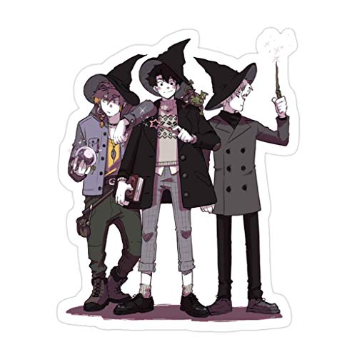 DKISEE 3 PCs Witch Boys - 4 inches Die-Cut Stickers Decals for Laptop Window Car Bumper Water Bottle