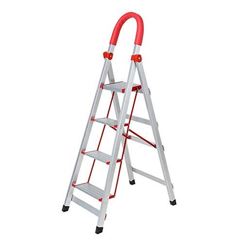 Soul Hill - Taburete plegable con escalera antióxido, 3/4 escalones, en espiga, para interiores (tamaño: 4 peldaños), 4 steps