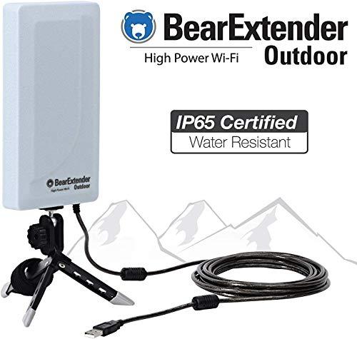 Bearifi BearExtender Outdoor RV & Marine High Power USB Wi-Fi Extender Antenna for PCs