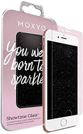 MOXYO Showtime Glitter Glass Screen Protector Compatible with Apple iPhone 6 Plus 6s Plus 7 product image