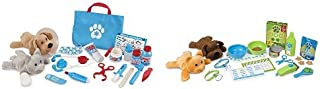 Melissa & Doug Plush Pet Care 2-Pack - Pet Vet (24 pcs), Feeding and Grooming (24 pcs)