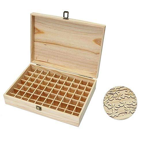 Betrothales 70 Gitter Aufbewahrungsbox Aus Holz Holzkiste Mit Deckel Holzkoffer Für Ätherisches Öl Tasche Box Organisator Aufbewahrungsbox Für 5 Ml 10 Ml 15 Ml Flaschen