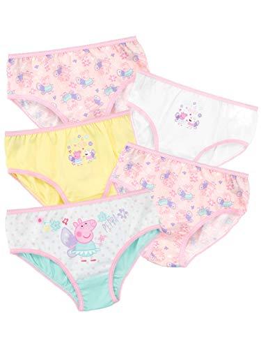 Peppa Wutz Mädchen Unterwäsche Packung mit 5 Mehrfarbig 122