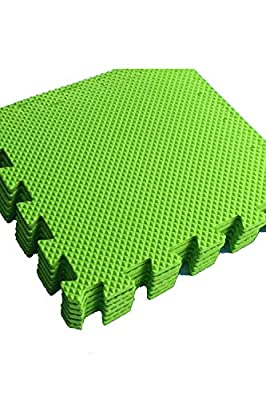 SESSRYMNIR Puzzle Exercise Floor Mat EVA Interlocking Foam Tiles Exercise Equipment Mat Protective Flooring for Home Gym