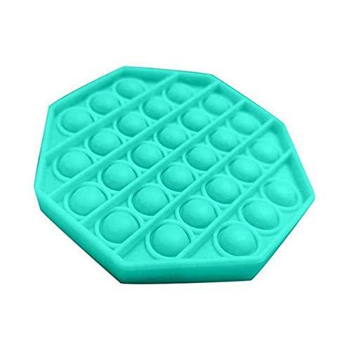 JiYanTang Juguete para apretar Juguetes de descompresión Push Pop Bubble Sensor Fidget Toy Regalo Divertido Squishy Juguetes antiestrés Autismo Alivio del estrés E