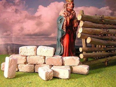 250 rechteckige Ruinen-Bausteine für Krippenbau und andere - 4
