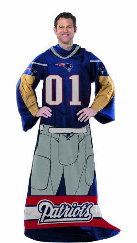 NFL New England Patriots Kuscheldecke mit Ärmeln, 121,9 x 180,3 cm