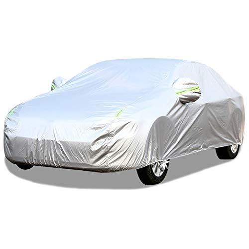 Whitejianpeak wasserdichte Autoabdeckung Kompatibel Mit Volkswagen VW Golf,GTI,Jetta Autoplanen Autogarage Abdeckung Vollgarage Abdeckplane Wasserdicht (Color : Silver, Size : Jetta GLI)