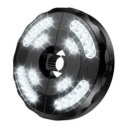 ORIA Schirmleuchte LED Beleuchtung, 28 LED Sonnenschirm Beleuchtung LED-Licht mit 3 Helligkeitsstufen, Camping LED Lampe Patio Umbrella Light USB Aufladen, Nachtlicht für Garten Camping BBQ Outdoor