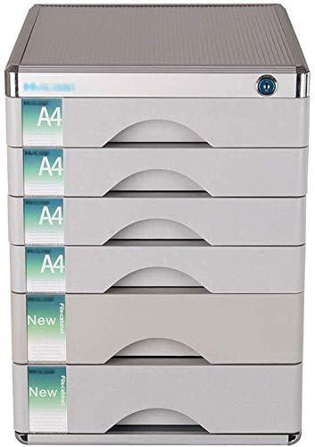 Bestand Kasten Lock Multi-layer Plastic Lade Type Office Opslag Archief Box Kleur-zilver Aluminium (30X36X40.5CM) Home Office Meubels