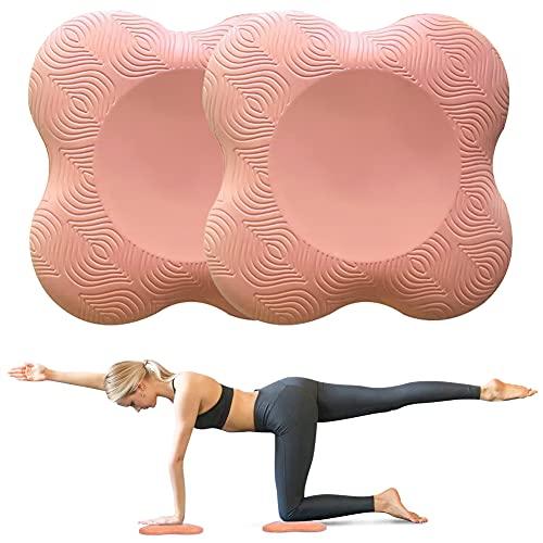 Almohadilla Rodillera Yoga, 2pcs Rodilleras de Yoga Espuma Suave Esterilla Yoga Antideslizante, Ecológicas y Ligeras Yoga Mat Protectora Rodilla, el Tobillo, el Codo y la Mano