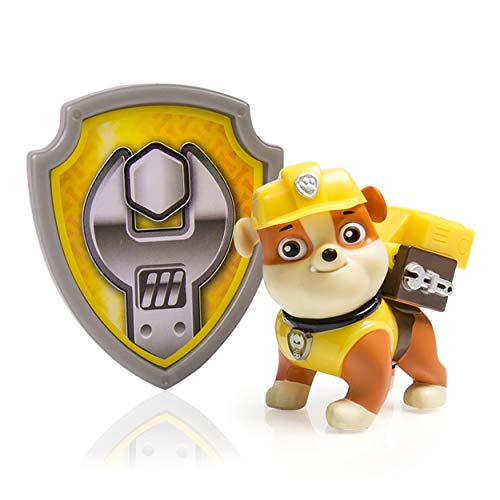 Paw Patrol Action Pack Pup & Badge, Rubble by Spin Master