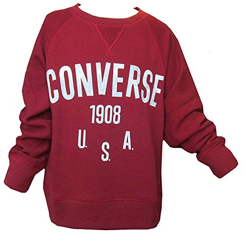 Converse Jungen Stachelbeere Sweatshirt Alle Star 1908 USA Langärmlig 8-13 - Stachelbeere, 10-12 Jahre 140-152cm