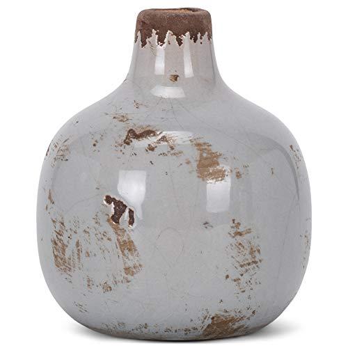 47th & Main Ceramic Vase, Mini, Round Grey