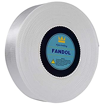 FANDOL Nylon Webbing - Heavy Duty Strapping for Crafting Pet Collars Shoulder Straps Slings Pull Handles - Repairing Furniture Gardening Outdoor Gear & More  1 inch x 10 Yards White