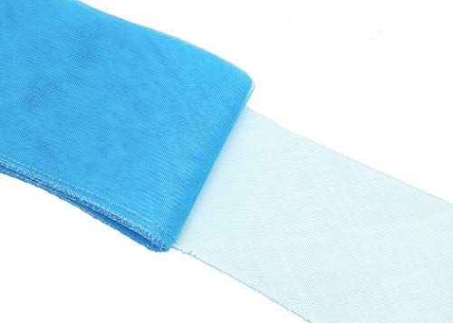 Crinoline Horsehair Braid for Millinery 6 Wide - Aqua Blue - Sold by The Yard