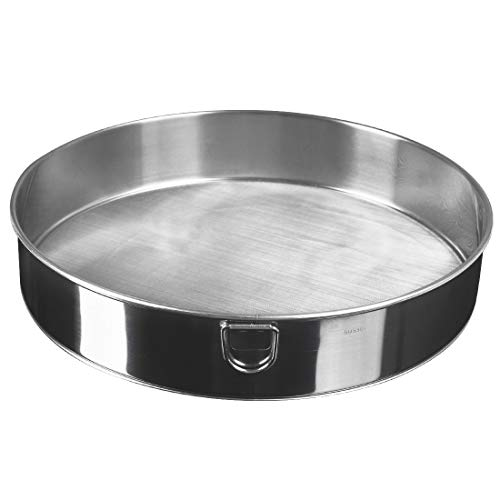 """uxcell Stainless Steel 60 Mesh Fine Strainer Colander Flour Sieve Round Sifters for Baking Cake Bread 10"""""""