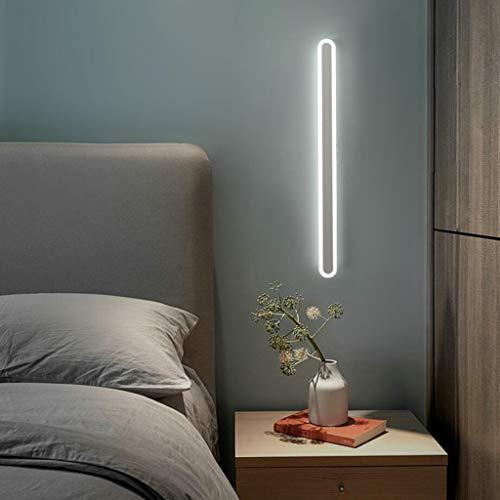 Applique murale moderne à LED intérieure longue bande en aluminium Lampe de Mur tricolore miroir lumineux lampe frontale design linéaire lampe de chevet salon escalier éclairage murale,Blanc,100cm36W