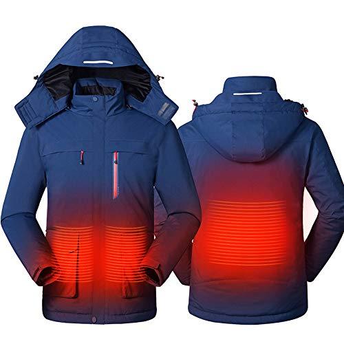 Foern Hombres Chaquetas Térmicas Inteligentes Impermeables Invierno al Aire Libre Calefacción térmica cálida USB Ropa de Senderismo