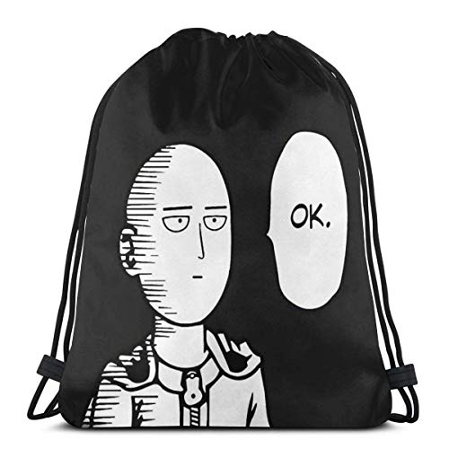 IUBBKI One PU-NCH Saitama Funny Ok Drawstring Bag Sport Gym Mochila Almacenamiento Goodie Cinch Bag