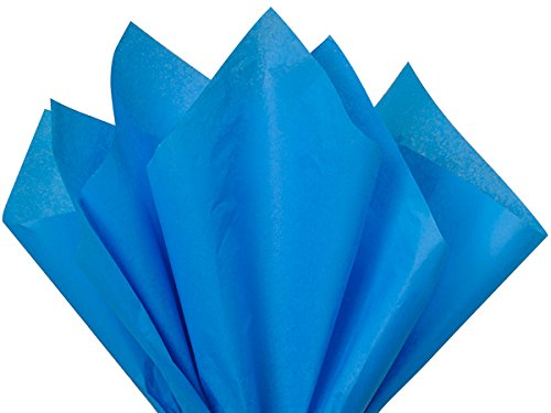 Brilliant Blue Tissue Paper 15 Inch X 20 Inch - 100 Sheet Pack Premium Tissue Paper by Made in USA