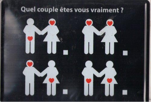 Plaque Metal Serigraphiée 15X21cm Quel Couple etes vous Vraiment?
