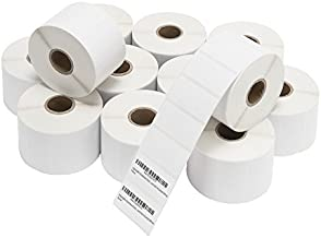 [12 Rolls, 1350/Roll] 2x1 Thermal Labels In Bulk, 2 x 1 Inch Tested & Proven for FBA Sellers FNSKU Barcodes, Permanent Self Adhesive, Perforated, 12 Rolls, Zebra Printer Compatible (1350 Per Roll