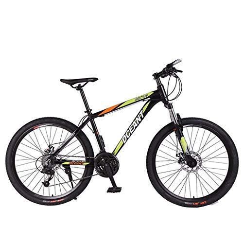 Biciclette pieghevoli per mountain bike per sport all'aria aperta, forcella ammortizzata a doppio disco a 21 velocità antiscivolo, bici da corsa a velocità variabile fuoristrada per uomo e donna (colo
