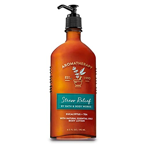 Bath & Body Works Aromatherapy Stress Relief Eucalytus Tea with Natural Essential Oils Body Lotion 6.5 fl oz / 192 mL