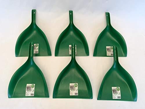 Paletta Raccoglipolvere Remake in Ecoallene, Colore unico-verde scuro, Materiale Riciclato al 95% - Made in Italy - 6 pz -