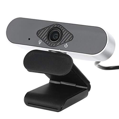 webcam kafuty Kafuty-1 Webcam HD con Microfono Stereo Webcam Fotocamera USB 1080P Ad Alta Definizione per Conferenze in Streaming Live Streaming Compatibile con Zoom/Skype/Teams/PC Mac Desktop(Argento)