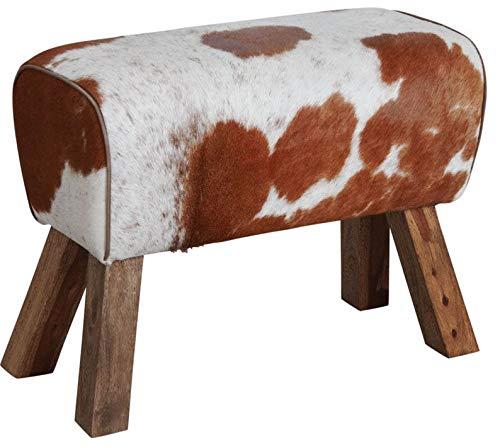 AUBRY GASPARD Tabouret rectangulaire en Peau de Vache