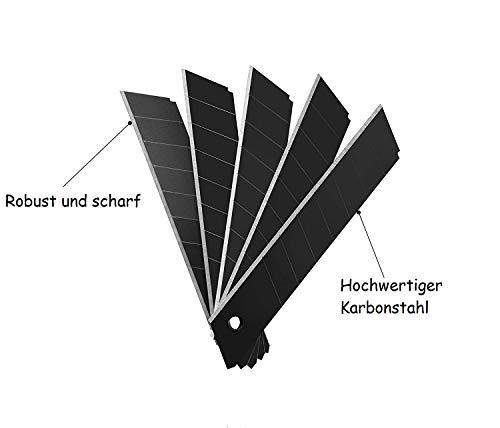 Schwarze Stahl Cuttermesser Klingen (10, Stück)