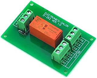 ELECTRONICS-SALON Passive Bistable/Latching DPDT 8 Amp Power Relay Module, 5V Version, RT424F05