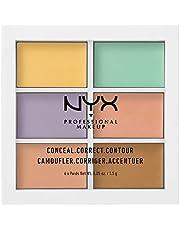 NYX PROFESSIONAL MAKEUP, Color Correcting Palette, Colour Concealer Makeup Palette, 6 Krämiga och blandbara nyanser