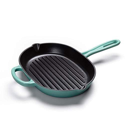 MotBach Utensilios de Cocina Freying SART Steet Pot SART Pan Sombra Sartén Sartén Nón (Color : Blue)