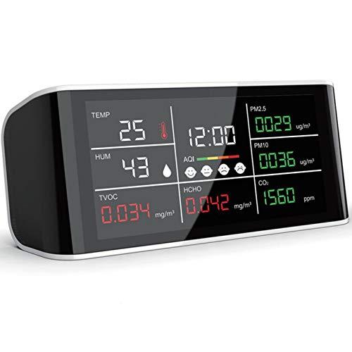 WNN-URG CO2 Messgerät DM69 Kohlendioxidkonzentration Messgerät Tragbare Luftqualität Messgerät CO2 PM2.5 PM10 HCHO TOVC Temperatur Luftfeuchtigkeit Gemeinsame Anzeige Bildschirm Multifunktionsinfraroe