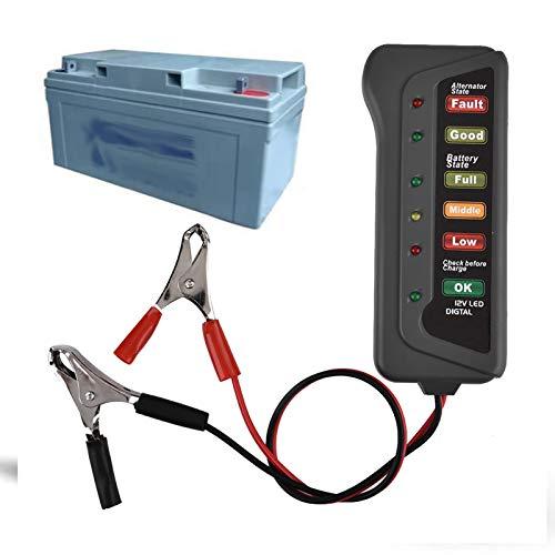 Analizador de Probador de Batería De Automóvil, Probador de Batería Digital de 12 V y Probador de Alternador, Analizador de Probador de Carga de Batería para AutomóViles, Camiones y Vehículos