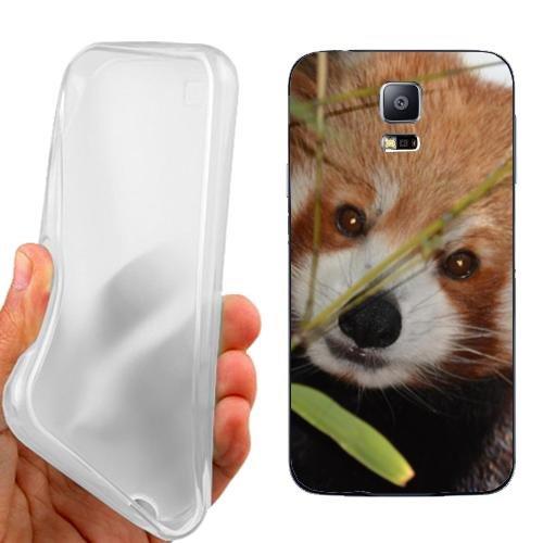Custodia Cover Case Orsetto Curioso per Samsung Galaxy S5 Neo